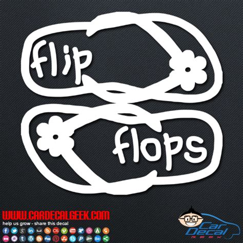 Auto Sticker Hawaii by Hawaiian Flip Flops Car Window Vinyl Decal Sticker
