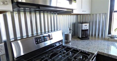 corrugated metal backsplash kitchen remodels pinterest