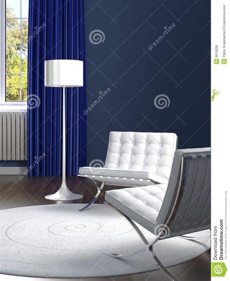 interior design classic blue  white room royalty