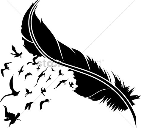 free vector graphics clipart feather with birds vector image 1515001 stockunlimited