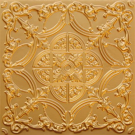 gold ceiling tiles golden prague faux tin ceiling tile glue up 24 quot x24