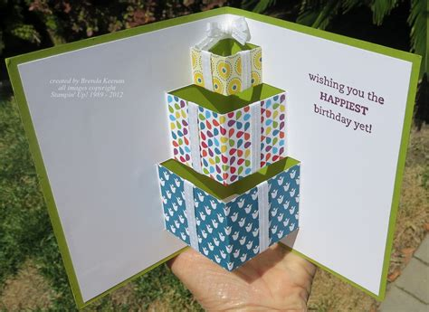 how to make pop out birthday cards folds class projects keenan kreations