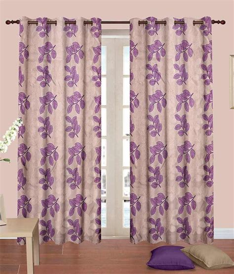 purple window curtains cortina beige purple window curtain set of 2 floral