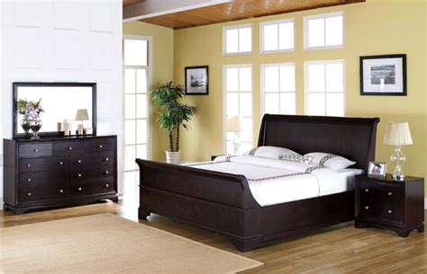 kingston bedroom set abbyson living kingston 5 piece espresso sleigh queen size