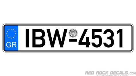 greece european license plate registration sticker