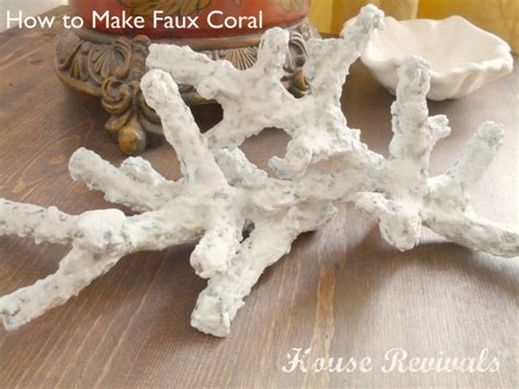 Paper Pulp Crafts - my faux coral was created using paper mache pulp although