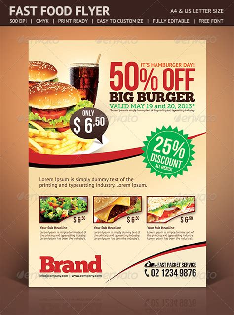 fast food flyer graphicriver