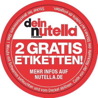 Nutella Aufkleber Kostenlos by Nutelle Etiketten B 252 Rozubeh 246 R