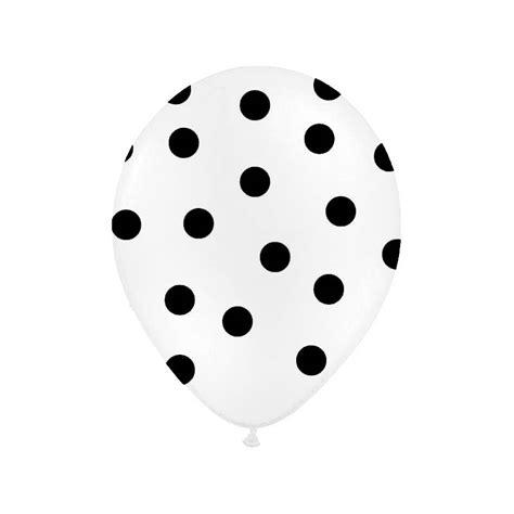polka dots ballonnen wit met zwarte stippen hieppp