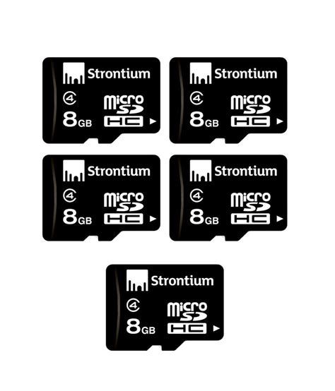 Strontium Micro Sdhc 8gb Class 6 strontium pack of 5 strontium 8 gb micro sdhc memory card