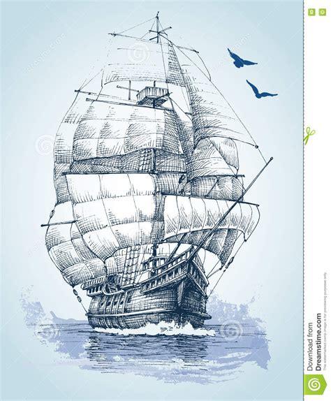 dibujo barco mar barco en el dibujo del mar ilustraci 243 n del vector