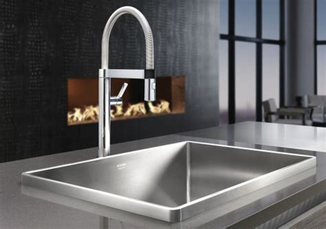 Kitchen Faucets Stainless Steel by New Faucet Blancoculina Mini Blanco