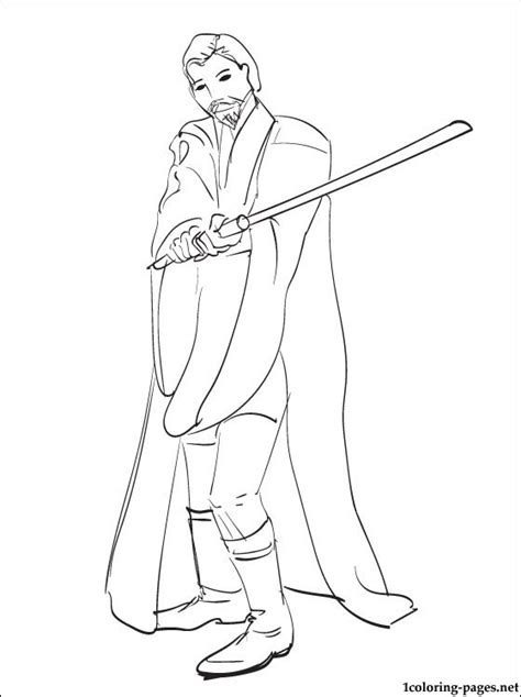 Obi Wan Coloring Pages wars obi wan kenobi coloring page coloring pages