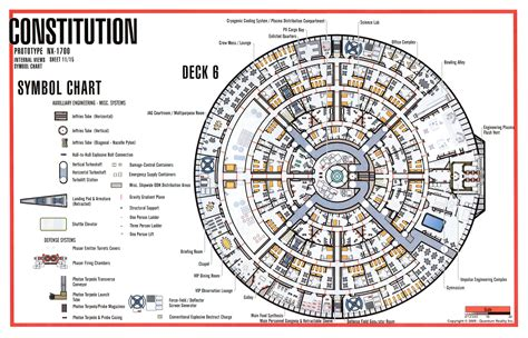 starship floor plan star trek blueprints constitution class nx 1700 starship