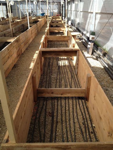 raised beds  radiant heat greenhouse heating