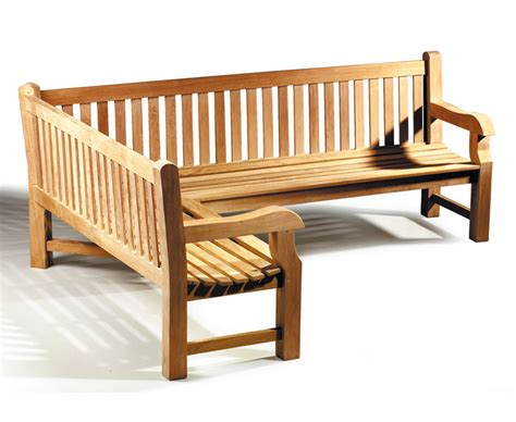 wooden corner bench seating outdoor balmoral teak wooden corner garden bench left orientation