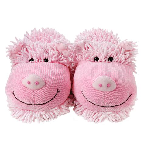 pig trotter slippers aroma home fuzzy slippers pig buy from prezzybox