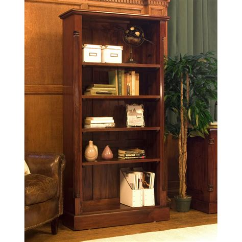 Bookcase Clearance Sale La Roque Tall Open Mahogany Bookcase Wooden Furniture Store