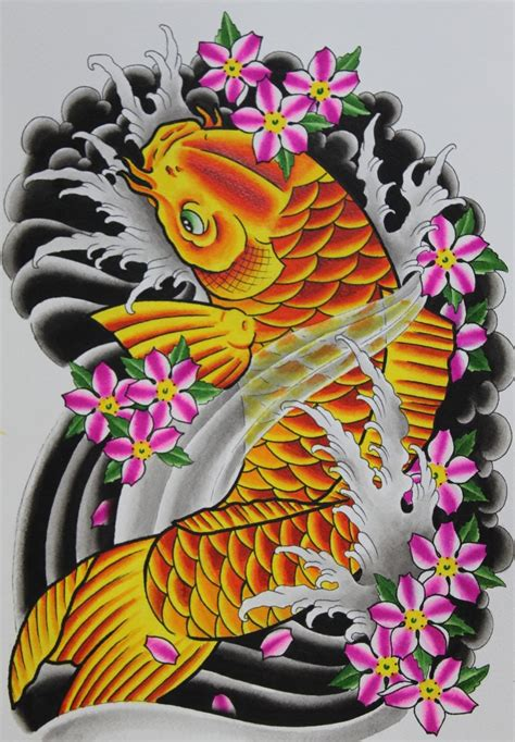 koi flower tattoo designs 30 koi fish designs with meanings