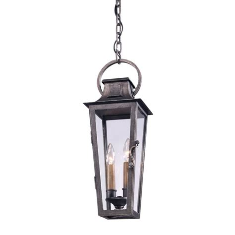 Pewter Outdoor Lighting Troy Lighting Quarter 2 Light Aged Pewter Outdoor Hanging Pendant F2966 The Home Depot