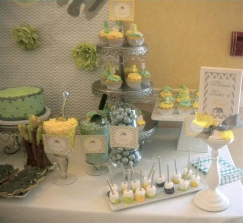Bundle Of Baby Shower Theme by Yellow And Gray Baby Shower Ideas