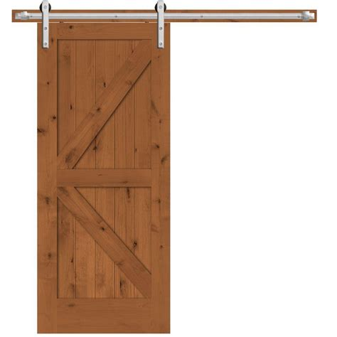 36 Sliding Closet Doors Steves Sons 36 In X 84 In Rustic 2 Panel Stained Knotty Alder Interior Barn Door Slab With