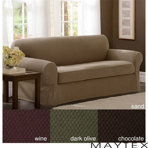 Overstock Sofa Slipcovers by Maytex Stretch 2 Pixel Sofa Slipcover