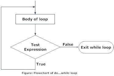 flowchart for do while loop in c difference between for while and do while loop in c