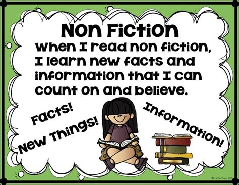non fiction non fiction poster my first grade classroom pinterest