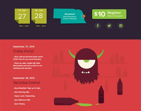 web design color layout 13 beautiful exles of bold colors in web design web