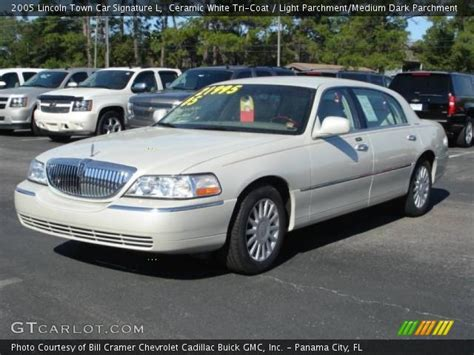 ceramic white tri coat  lincoln town car signature