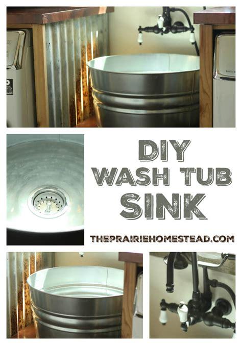 wash tub sink faucet diy galvanized tub sink the prairie homestead