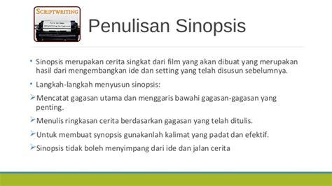 membuat sinopsis film pendek tahap pra produksi film