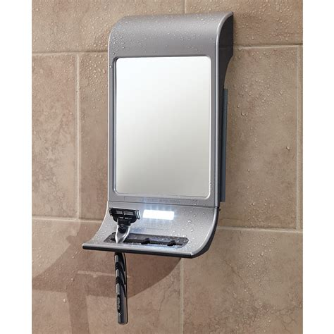 bathroom mirror fog free the best fog free mirror hammacher schlemmer