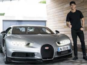 new car of cristiano ronaldo cristiano ronaldo gives the bugatti chiron his seal of