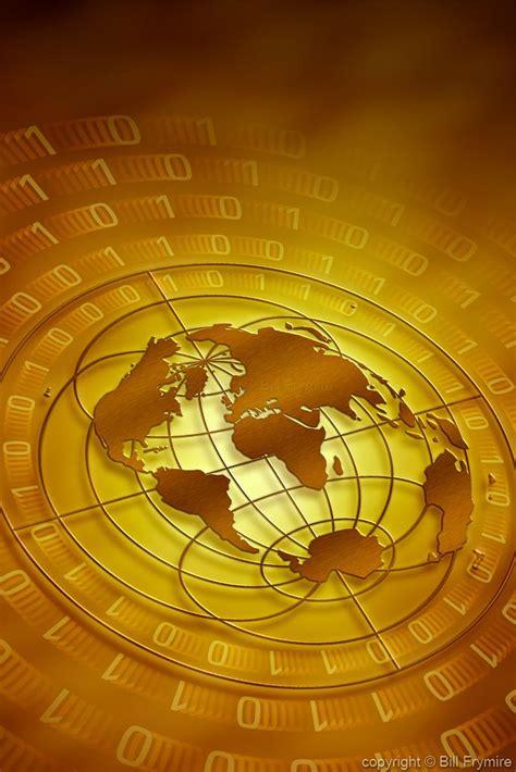 International Mba Technology by World Map With Binary Code