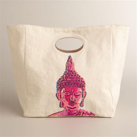 Cotton Lunch Bag buddha fluf organic cotton lunch bag world market