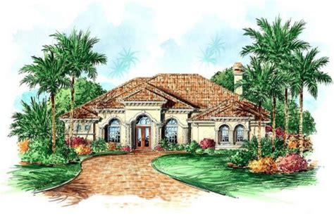 3 Bedroom, 4 Bath Mediterranean House Plan   #ALP 089H