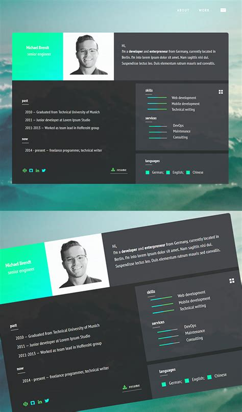 Html5 Resume Template by Free Resume Templates For 2017 Freebies Graphic Design