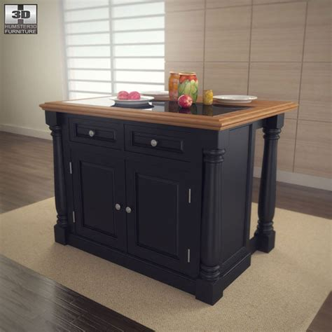 3d models monarch kitchen island home styles 3docean