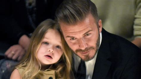 david beckham adorably sews dresses for daughter harper s