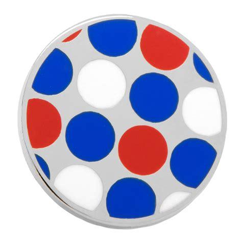 Polka Blue Bergo Busui Ay blue polka dot lapel pin