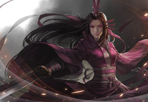 blade sword art asian girl warriorfantasy warrior desktop