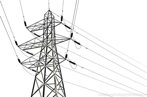 geometric power lines steel pylon transmission tower