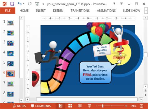 game ppt template animated timeline game powerpoint