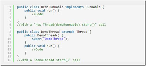 java tutorial runnable difference between implements runnable and extends