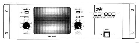 Power Lifier Cs 800 peavey cs 800 manual stereo power lifier hifi engine