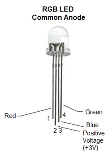 led anode cathode diagram how to build a common anode rgb led circuit