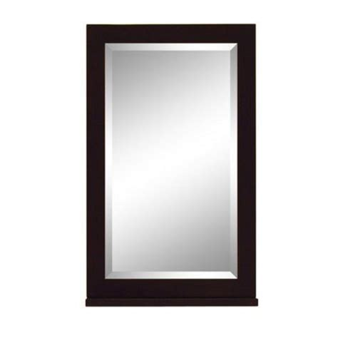18 inch bathroom mirror sagehill designs pa1829mr parsons 18 inch mirror espresso