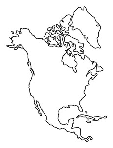 america continent map printable america pattern use the printable outline for